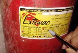 Extintor vencido desde 2009